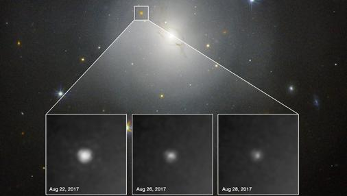 El evento, observado por el Hubble