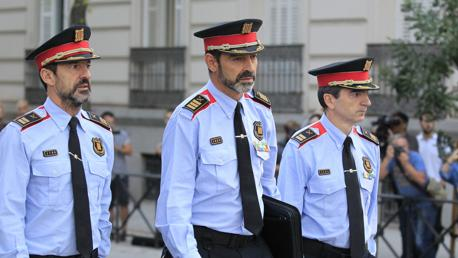 Trapero llega uniformado a la Audiencia Nacional para declarar
