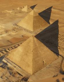 Vista aérea de la Gran Pirámide