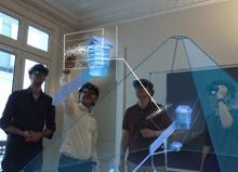 El equipo trabaja con realidad aumentada