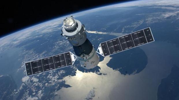 Representación de Tiangong-1, el laboratorio espacial chino de 8,5 toneladas