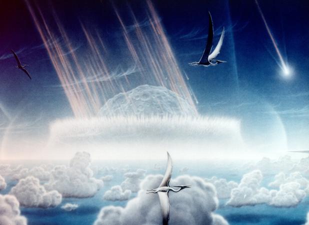 Simulación del gran impacto del asteroide que causó la extinción del Cretácico-Terciario