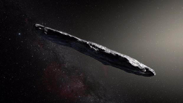 El objeto es muy alargado, cuando los asteroides suelen ser redondeados, y procede de fuera del Sistema Solar