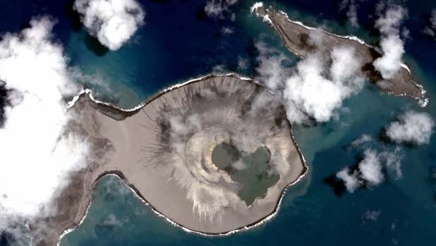 La isla volcánica de Hunga Tonga-Hunga Ha'apai