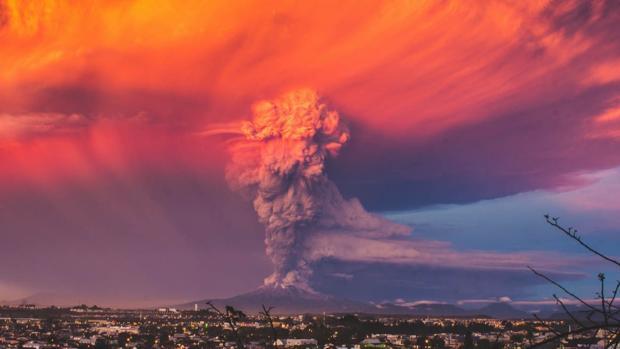 Erupción del volcán Calbuco, en Chile, en el año 2015