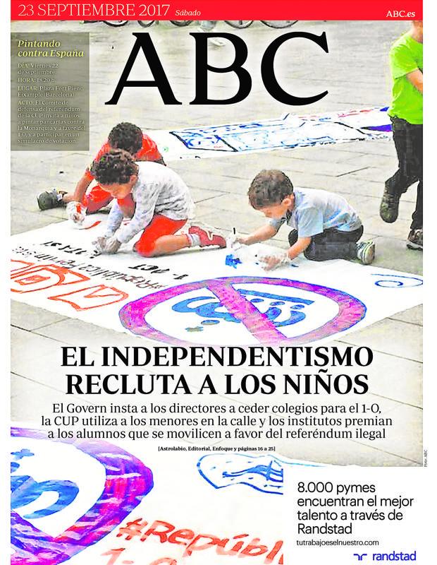 ABC y la doble moral de los separatistas