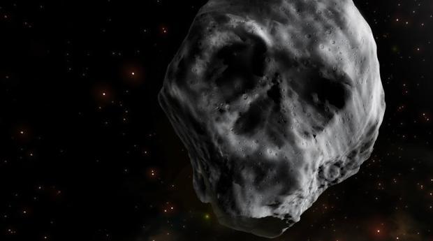 La ilustración muestra cuál es el aspecto del «asteroide calavera»