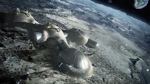 Recreación de la base lunar europea