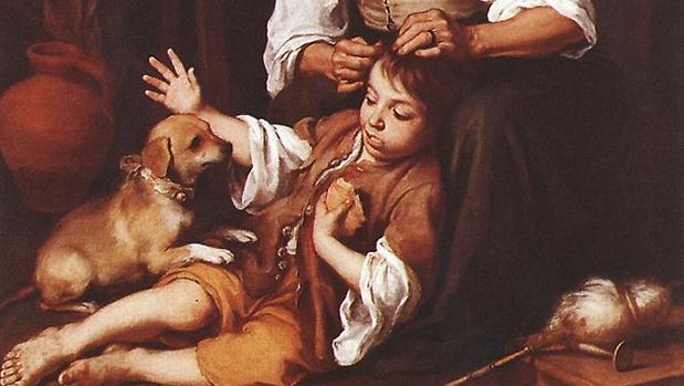 «Vieja despiojando a un niño», de Bartolomé Esteban Murillo, 1670