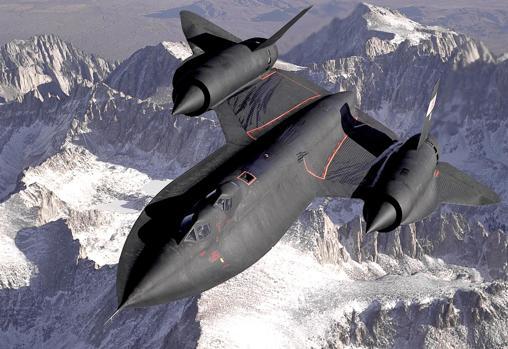 Fotografía del SR-71 «Blackbird» («Mirlo»)
