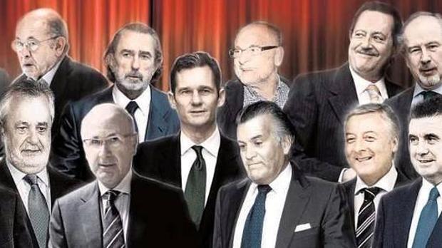 Protagonistas de algunos casos de corrupción