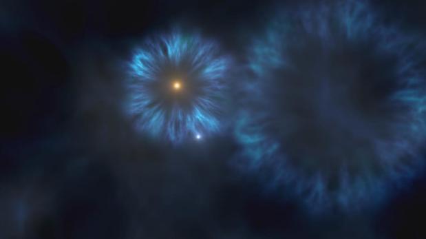 Ilustración de una de las primeras estrellas de la Vía Láctea