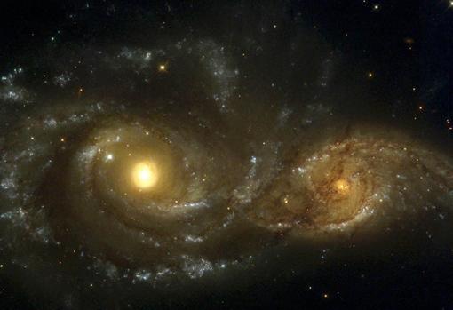 Fusión de galaxias en la constelación de El Can Mayor