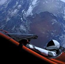 «Starman» en el Tesla Roadster