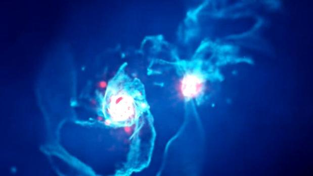 Simulación de la futura fusión entre Andrómeda y la Vía Láctea
