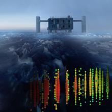 Recreación de la detección de neutrinos con el IceCube