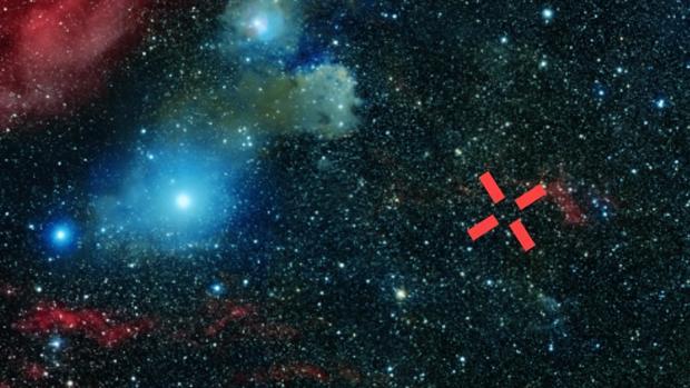 Región del cielo en la que se encuentra la fuente emisora del neutrino