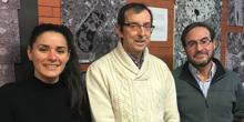 Los investigadores Arantxa Cebrian, José Manuel García Verdugo y Antonio Gutiérrez, neurocirujano del Hospital Universitario y Politécnico La Fe de Valencia