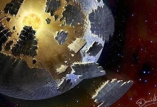 Representación de una esfera de Dyson