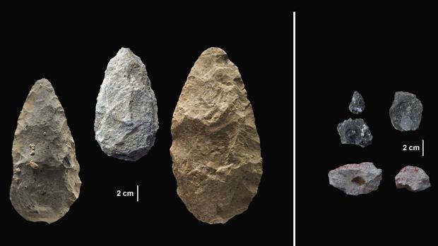 Algunas de las herramientas analizadas en el yacimiento de Olorgesailie (Kenia)