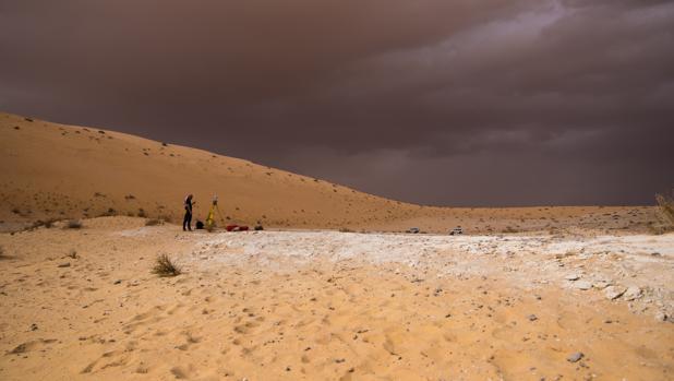 Trabajos en el sitio de Al Yusta, en el norte de Arabia Saudita