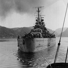 El Tirpitz, visto por popa