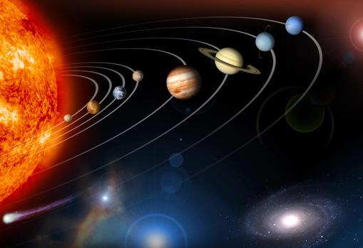 El modelo típico del Sistema Solar no es la realidad. No se respetan las distancias y no se tiene en cuenta que el Sol no está quieto, sino que está surcando la Vía Láctea