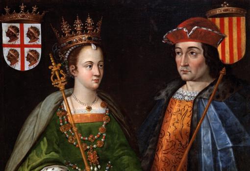 Retratos de la reina Petronila de Aragón y de Ramón Berenguer IV