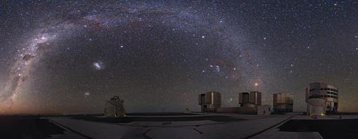 El «Very Large Telescope» (VLT) en Cerro Paranal, Chile