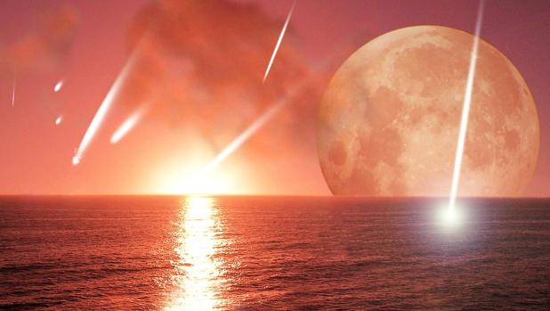 Lluvia de cometas trayendo el agua al planeta Tierra