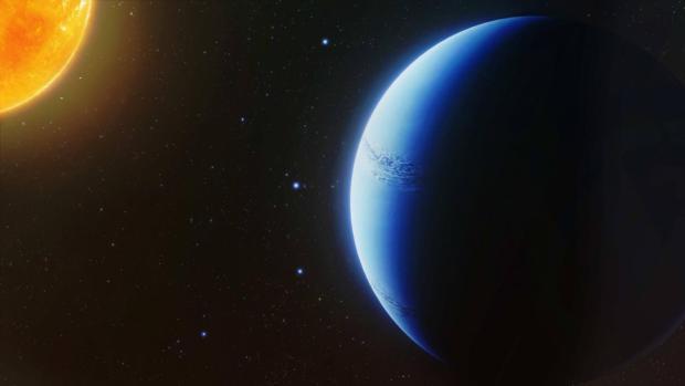 La ilustración muestra cómo podría ser el planeta WASP-96b