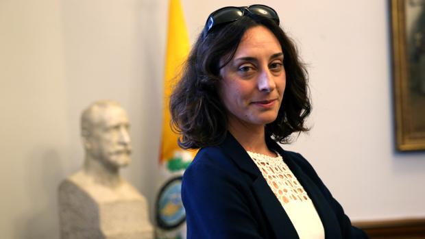 La doctora Sandra Jurado, en la sede de la Real Academia Nacional de Medicina (RANM), en Madrid