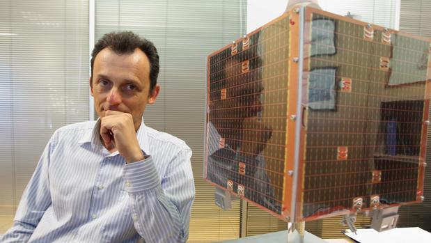 Pedro Duque, en la presentación del satélite Deimos-1