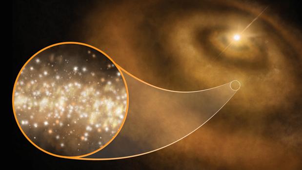 Nubes de nanodiamantes brillan en los discos protoplanetarios que rodean a las estrellas recién nacidas