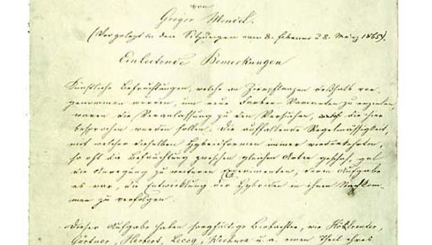 El manuscrito de Mendel