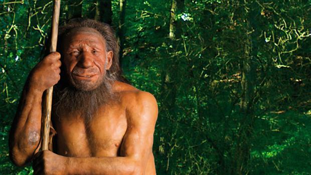 Representación de un neandertal