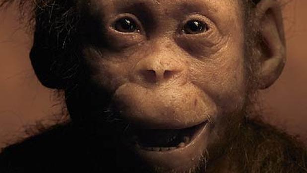 La pequeña «Selam», en una recreación de National Geographic