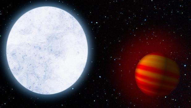 Concepción artística de Kelt-9 y su planeta