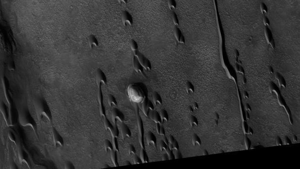 Dunas fantasma en la región de Hellespontus, en Marte