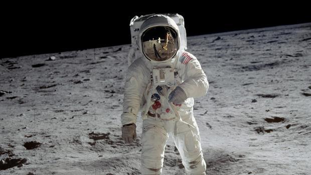 El astronauta Buzz Aldrin sobre la Luna