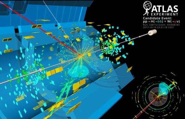Descomposición del Higgs en el experimento ATLAS