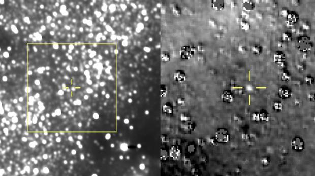 Imagen tomada de Ultima Thule desde una distancia de 172 millones de kilómetros, y desde una nave situada a 6.500 millones de kilómetros del Sol