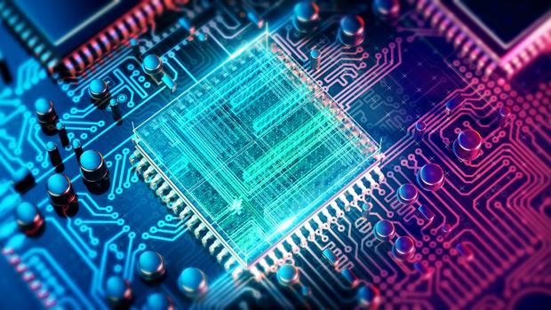 Recreación de un ordenador convencional. Los ordenadores cuánticos tienen la capacidad de multiplicar enormemente la velocidad de los computadores