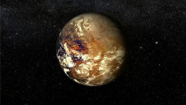 Recreación del planeta Próxima b