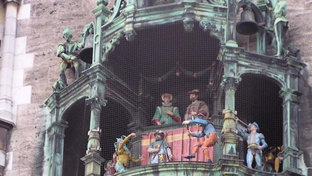El carrillón del ayuntamiento de Múnich, el Glockenspiel