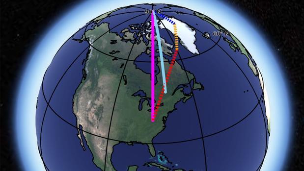 Por qué se desvía el eje de rotación de la Tierra
