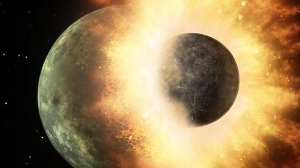 Una enorme roca del tamaño de Marte chocó contra la Tierra hace 4.500 millones de años, fundiendo su superficie y conviertiéndola en un océano de magma