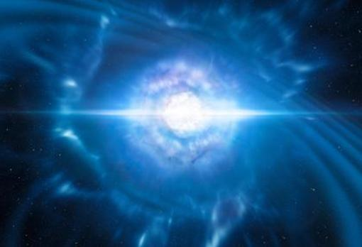 Recreación del evento observado con ondas gravitacionales y electromagnéticas