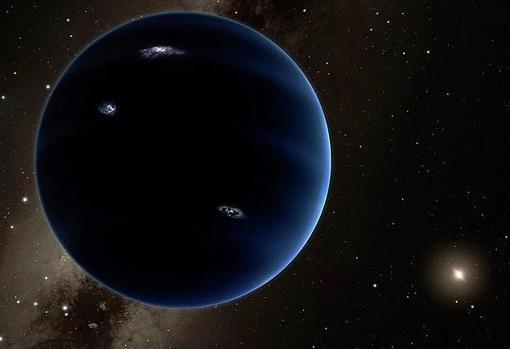 Representación artística del Planeta X