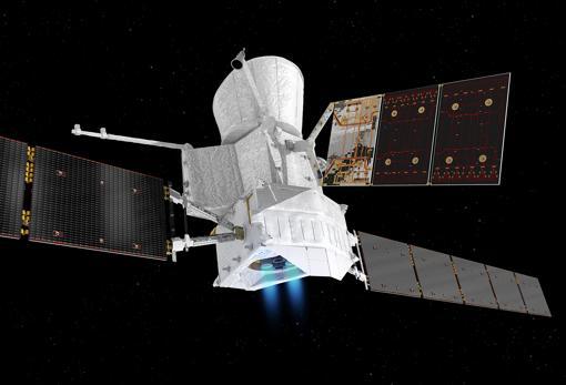 Aspecto que tendrá la nave BepiColombo en su viaje hasta Mercurio